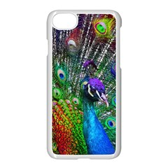 3d Peacock Pattern Apple Iphone 7 Seamless Case (white)