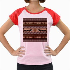 African Vector Patterns  Women s Cap Sleeve T Shirt