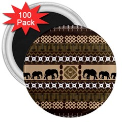 African Vector Patterns  3  Magnets (100 pack)