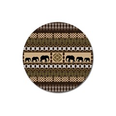 African Vector Patterns  Magnet 3  (round)