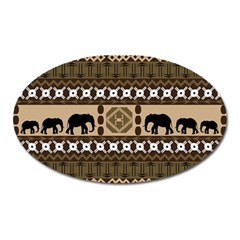 African Vector Patterns  Oval Magnet