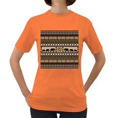 African Vector Patterns  Women s Dark T Shirt