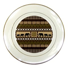African Vector Patterns  Porcelain Plates