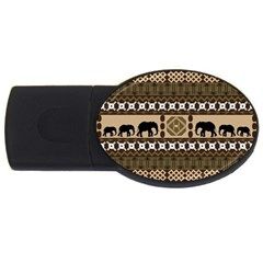 African Vector Patterns  USB Flash Drive Oval (4 GB)