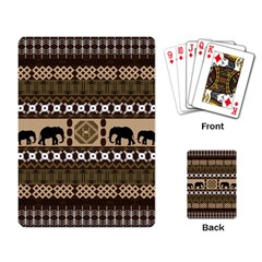 African Vector Patterns  Playing Card