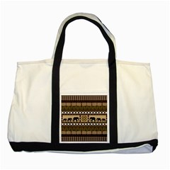 African Vector Patterns  Two Tone Tote Bag