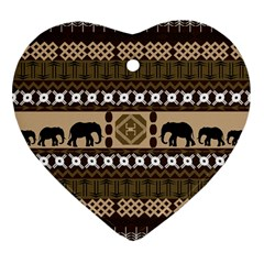 African Vector Patterns  Heart Ornament (two Sides)