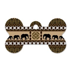 African Vector Patterns  Dog Tag Bone (One Side)