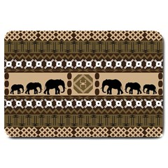 African Vector Patterns  Large Doormat
