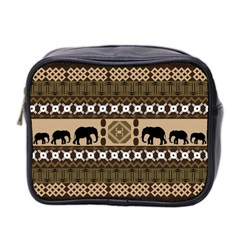 African Vector Patterns  Mini Toiletries Bag 2 Side