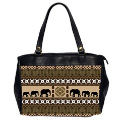 African Vector Patterns  Office Handbags (2 Sides)