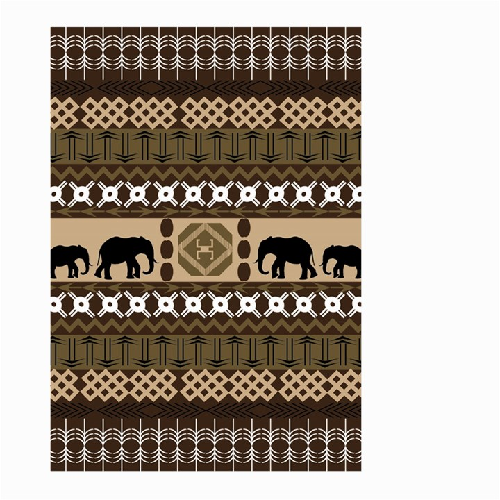 African Vector Patterns  Large Garden Flag (Two Sides)