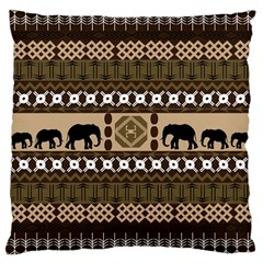 African Vector Patterns  Large Cushion Case (one Side)