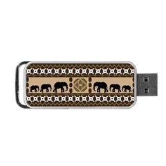 African Vector Patterns  Portable USB Flash (Two Sides)