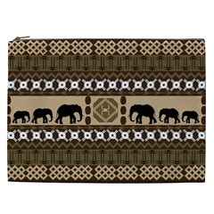 African Vector Patterns  Cosmetic Bag (XXL)