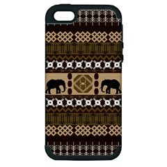 African Vector Patterns  Apple iPhone 5 Hardshell Case (PC+Silicone)
