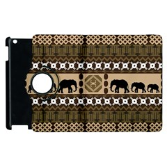 African Vector Patterns  Apple Ipad 3/4 Flip 360 Case