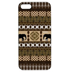 African Vector Patterns  Apple iPhone 5 Hardshell Case with Stand
