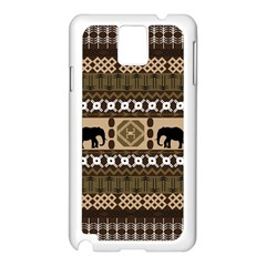 African Vector Patterns  Samsung Galaxy Note 3 N9005 Case (white)