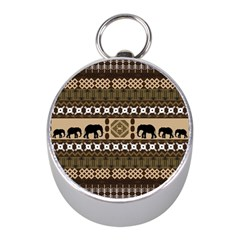 African Vector Patterns  Mini Silver Compasses