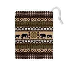 African Vector Patterns  Drawstring Pouches (large)