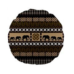 African Vector Patterns  Standard 15  Premium Flano Round Cushions