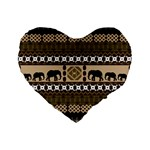 African Vector Patterns  Standard 16  Premium Flano Heart Shape Cushions Front
