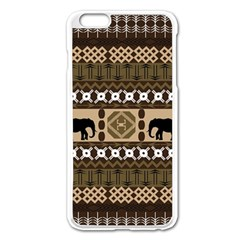 African Vector Patterns  Apple Iphone 6 Plus/6s Plus Enamel White Case