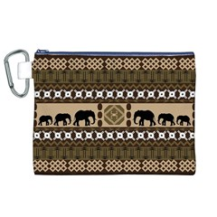 African Vector Patterns  Canvas Cosmetic Bag (xl)