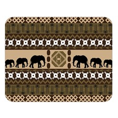 African Vector Patterns  Double Sided Flano Blanket (large)