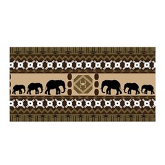 African Vector Patterns  Satin Wrap