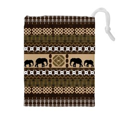 African Vector Patterns  Drawstring Pouches (extra Large)
