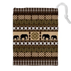 African Vector Patterns  Drawstring Pouches (XXL)