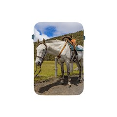 White Horse Tied Up at Cotopaxi National Park Ecuador Apple iPad Mini Protective Soft Cases
