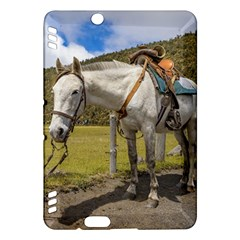 White Horse Tied Up at Cotopaxi National Park Ecuador Kindle Fire HDX Hardshell Case