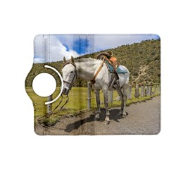 White Horse Tied Up at Cotopaxi National Park Ecuador Kindle Fire HD (2013) Flip 360 Case