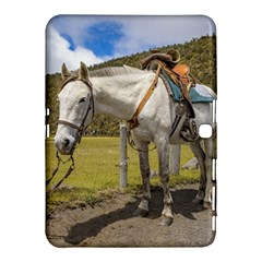 White Horse Tied Up at Cotopaxi National Park Ecuador Samsung Galaxy Tab 4 (10.1 ) Hardshell Case