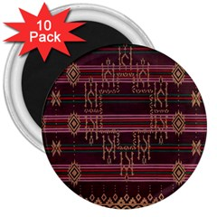 Ulos Suji Traditional Art Pattern 3  Magnets (10 Pack)