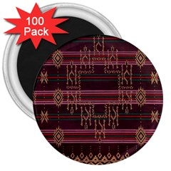 Ulos Suji Traditional Art Pattern 3  Magnets (100 Pack)