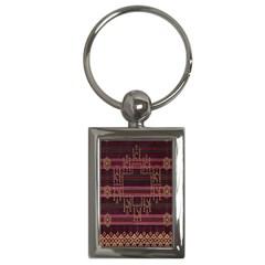 Ulos Suji Traditional Art Pattern Key Chains (rectangle)