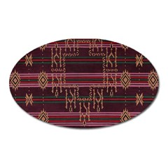 Ulos Suji Traditional Art Pattern Oval Magnet