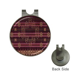 Ulos Suji Traditional Art Pattern Hat Clips With Golf Markers