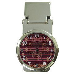 Ulos Suji Traditional Art Pattern Money Clip Watches