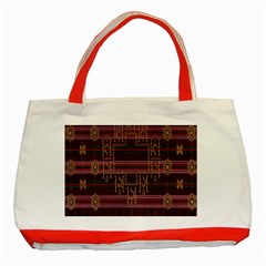 Ulos Suji Traditional Art Pattern Classic Tote Bag (Red)