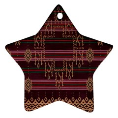 Ulos Suji Traditional Art Pattern Star Ornament (Two Sides)