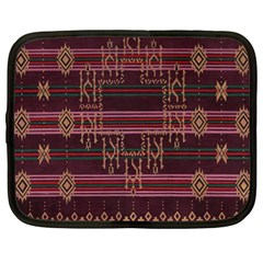 Ulos Suji Traditional Art Pattern Netbook Case (large)