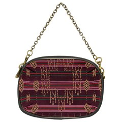 Ulos Suji Traditional Art Pattern Chain Purses (two Sides)