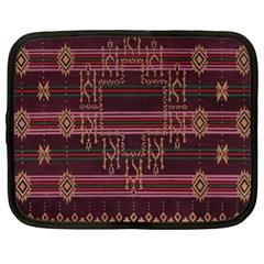 Ulos Suji Traditional Art Pattern Netbook Case (xl)