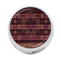 Ulos Suji Traditional Art Pattern 4 Port Usb Hub (two Sides)
