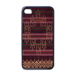 Ulos Suji Traditional Art Pattern Apple Iphone 4 Case (black)